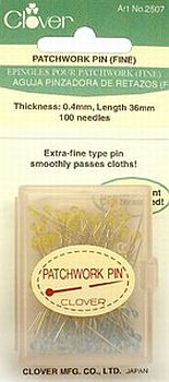 Clover Patchwork Glasshead Pin Size 30 - 1 1/2in 100ct - 051221403002 Quilting N...