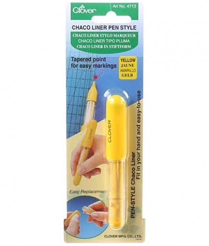 Chaco Liner Pen Style Yellow by Clover - 051221515132 Quilting Notions