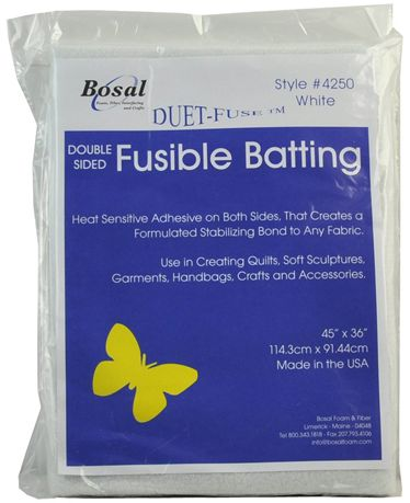 Bosal Duet-Fuse Double Sided Fusible Batting 45 in x 36 in
