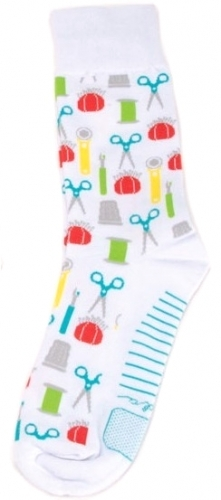 Sock - Sewing Notions White Socks by Moda Fun Stuff - 752106454668 Quilting Noti...