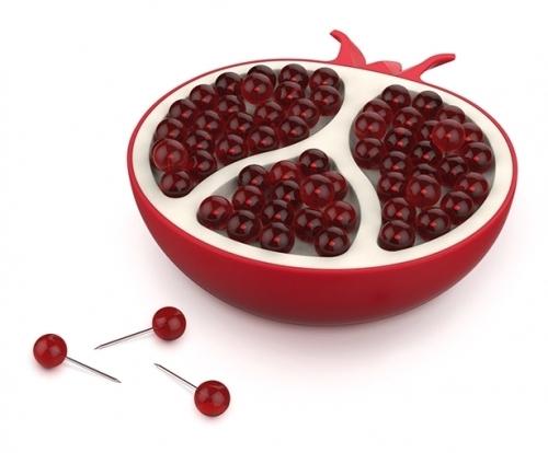 Fred PushPins Pomgranate