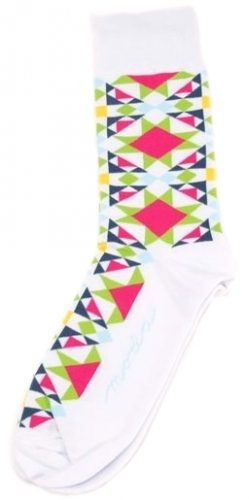 Block Star White Socks by Moda Fun Stuff