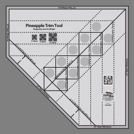 Creative Grids Ruler Pineapple Trim Tool