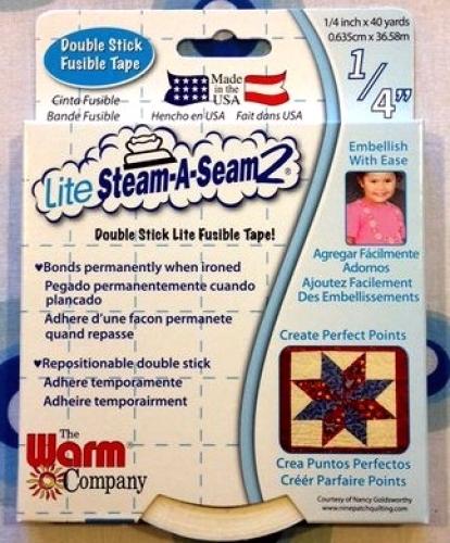 Lite Steam-A-Seam 2, 1/4 inch - by the YD