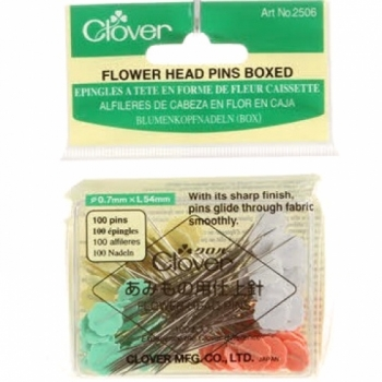 Clover Flower Head Pin Size 32 - 2in 100ct 4 colors