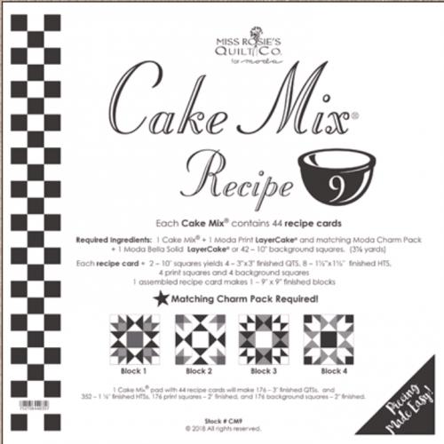 Miss Rosie's Quilt Co - Cake Mix Recipe 9 -44 ct
