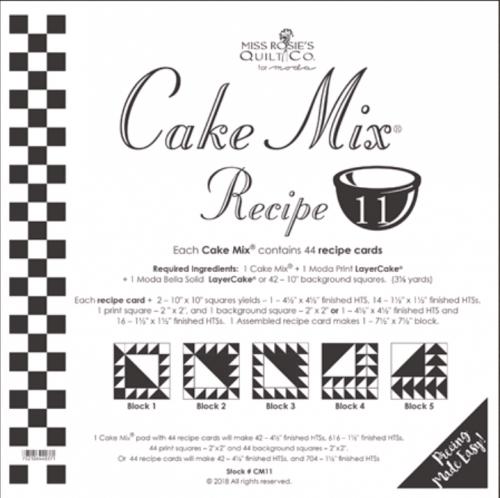 Miss Rosie's Quilt Co - Cake Mix Recipe 11 - 44 ct