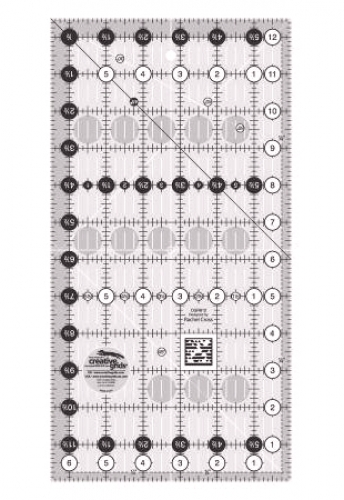Creative Grids Quilting Ruler 6 1/2in x 12 1/2in CGR612 743285000128 Rulers & Te...