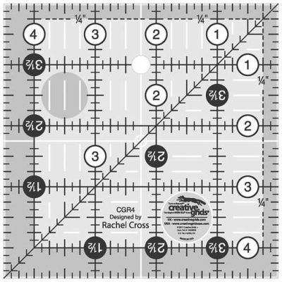 Creative Grids Quilting Ruler 4 1/2in Square CGR4 743285000012 Rulers & Template...