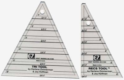 Ez Quilting Tri Recs Triangle Ruler 073077375302 Rulers & Templates