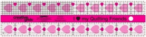 2.5 x 10  I Love My Quilt Friends Ruler - Creative Grids - CGRQF