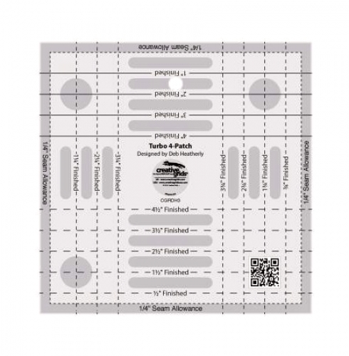 Creative Grids Turbo 4 Patch Template CGRDH3 743285001996 Rulers & Templates
