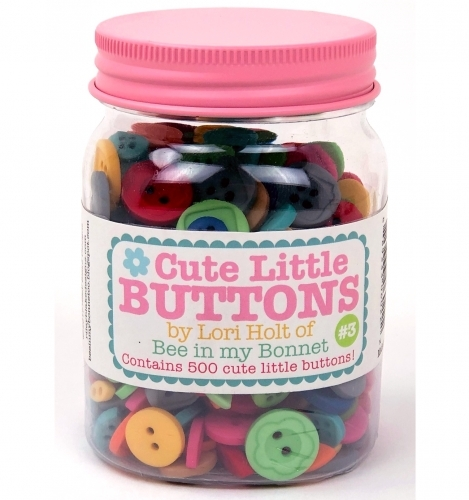 Cute Little Buttons Jar 3 by Lori Holt of Bee in my Bonnet - 889333060222 Quilti...