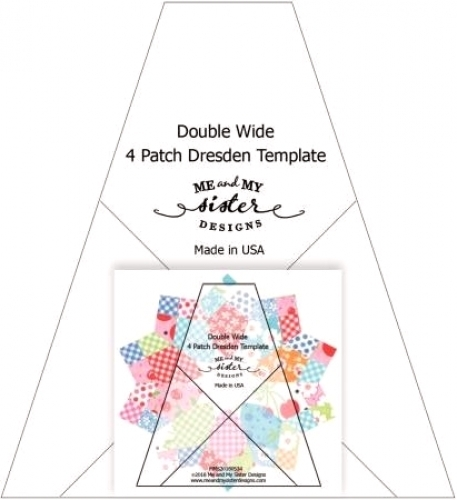 Double Wide Four Patch Dresden Template  - Includes pattern