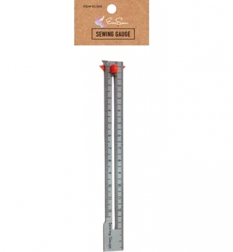 EverSewn Seam Gauge Ruler with Sliding Marker - 744674322548 Quilting Notions