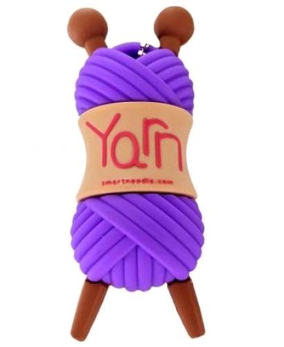 Yarn Skein Purple 4GB USB Flash Drive
