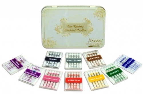 Klasse Needle Gift Tin 10pc Assorted Needle Pack - 4895126728923 Quilting Notion...