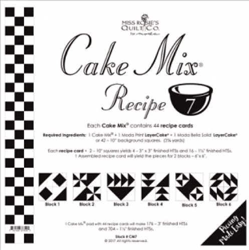 Miss Rosie's Quilt Co - Cake Mix Recipe 7 -  44 ct