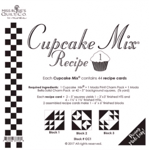 Miss Rosie's Quilt Co - Cupcake Mix Recipe 1 - 752106377189 Quilting Notions