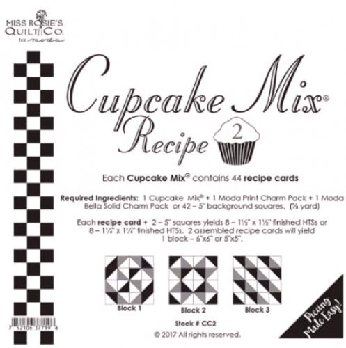 Miss Rosie's Quilt Co - Cupcake Mix Recipe 2 - 752106377196 Quilting Notions