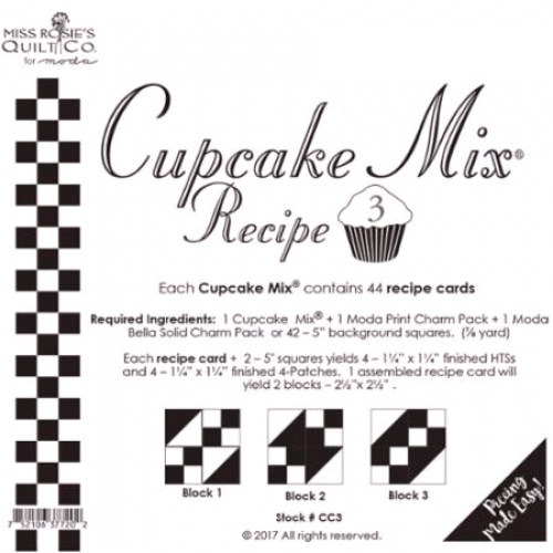 Miss Rosie's Quilt Co - Cupcake Mix Recipe 3 - Quilting Notions