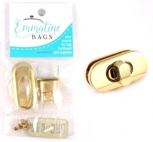 Emmaline Bags Small Turn Lock - Gold