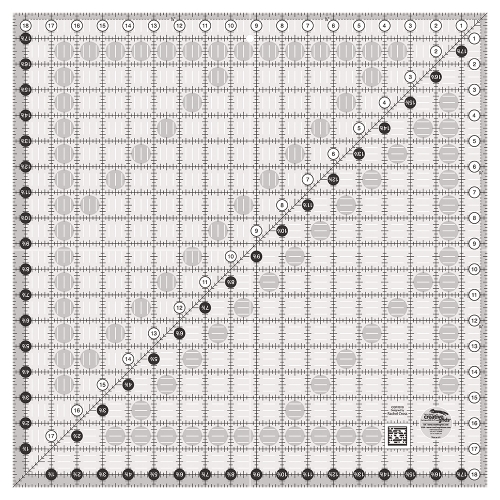 CGR1818 Creative Grids Quilt Ruler 18-1/2in Square