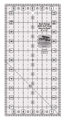 Creative Grids Basic Range 6in x 12in Rectangle CGRBR5 743285001415 Rulers & Tem...