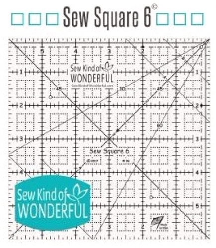 Sew Square 6 inch Ruler by Sew Kind of Wonderful 602573376539 Rulers & Templates