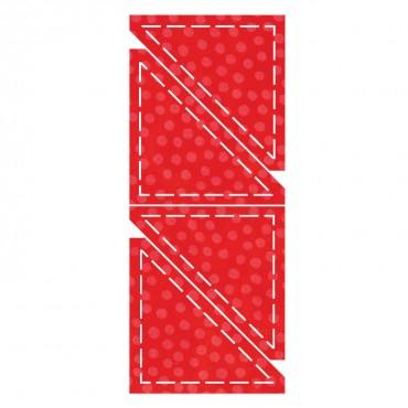 Accuquilt Die GO! 55009 Half Square 3 inch 699195550096 / Quilt in a Day / AccuQuilt