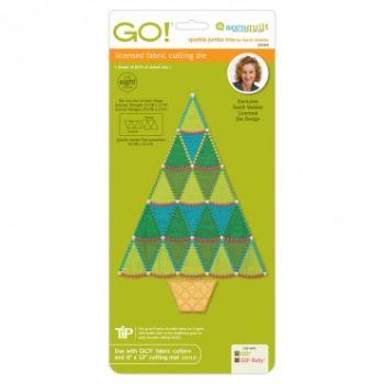 Accuquilt Die GO! 55094 Sparkle-Jumbo Tree by Sarah Vedeler 721802490638 / Quilt...