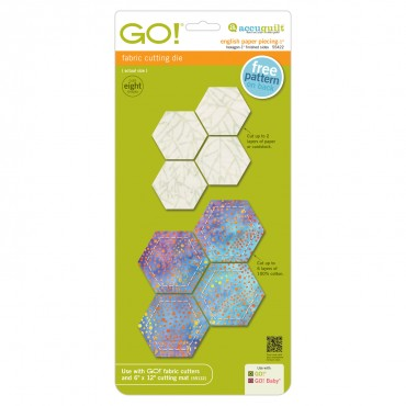 Accuquilt Die 55422 English Paper Piecing Hexagon 1 Inch Finished Sides 69919555...