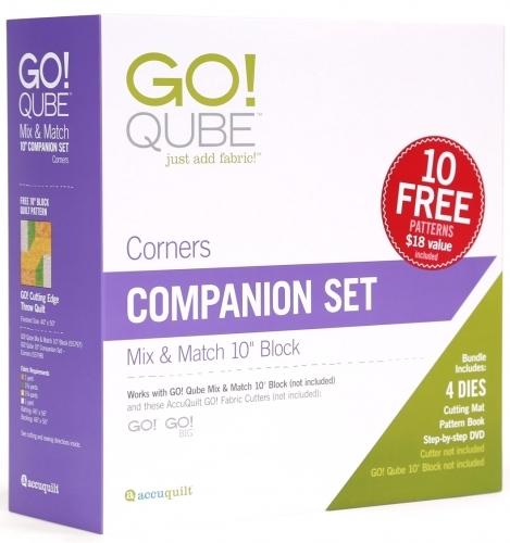 Accuquilt Go! Qube 10 Companion Set - Corners