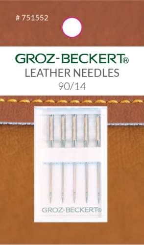 Groz-Beckert 130/705 H-LR 90/14 Leather Needles - 744674515520 Quilting Notions