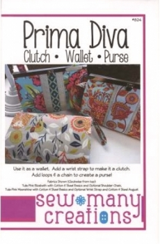 Sew Many Creations - Prima Diva Clutch Wallet 652032778176 - Quilt in a Day Patt...