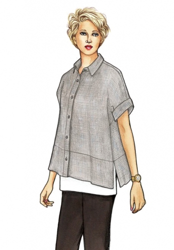 Cottage Shirt Pattern by The Sewing Workshop