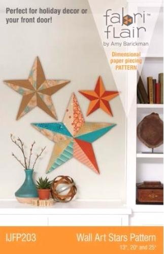 FABRIFLAIR WALL ART STARS PATTERN IJFP203 Amy Barickman