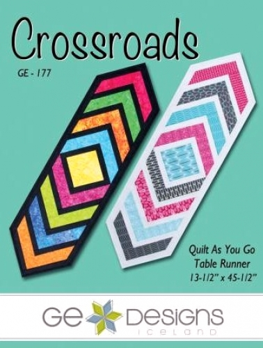 Crossroads Table Runner by GE Designs 653476949313 - Quilt in a Day Patterns