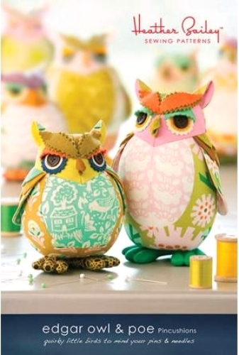 Edgar Owl & Poe Pattern - Heather Bailey