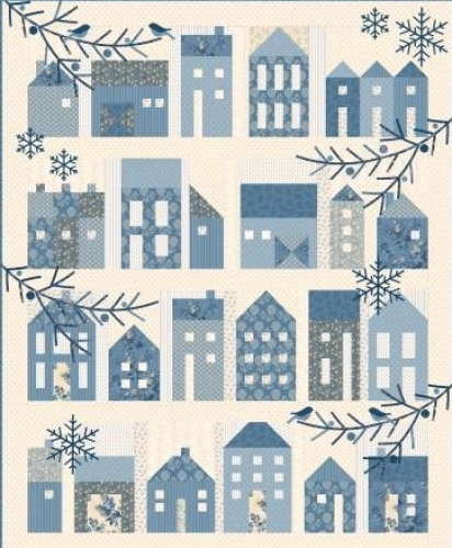 Winter Village Quilt Pattern by Laundry Basket Quilts BLOCK OF THE MONTH
