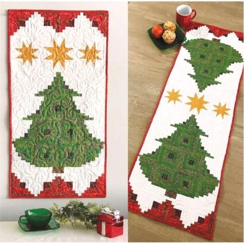 Cut Loose Press - Pine Tree Banner or Table Runner CLPJAW070 - Quilt in a Day Pa...