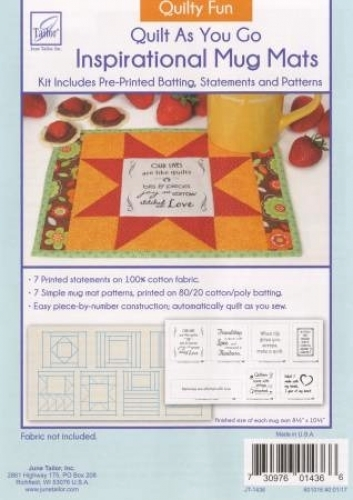 Quilt As You Go Quilty Fun - Inspirational Mug Mats by June Tailor Inc 730976014...