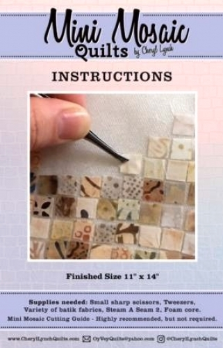 Mini Mosaic Quilts Cutting Guide And Instructions 027706983826 - Quilt in a Day ...