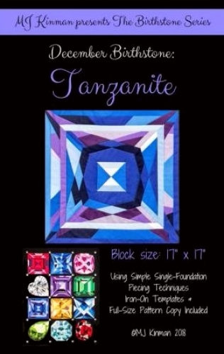 December Birthstone Tanzanite - Birthstone Series - Quilting Pattern