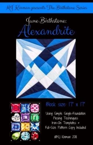 June Birthstone Alexandrite - Birthstone Series - Quilting Pattern