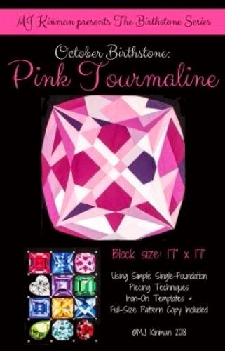 October Birthstone Pink Tourmaline - Birthstone Series - Quilting Pattern