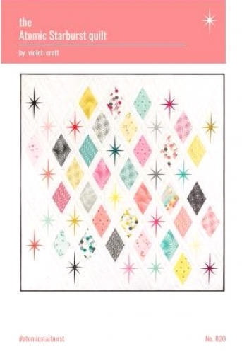 The Atomic Starburst Quilt Pattern by Violet Craft