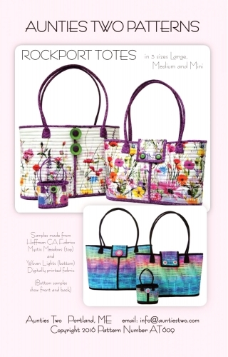 Aunties Two Patterns: Rockport Totes 853102006094 - Quilt in a Day Patterns