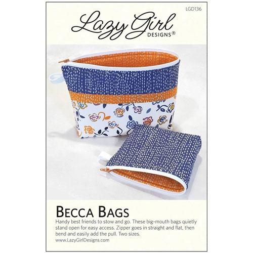 BECCA BAGS PATTERN LGD136 Lazy Girl Designs