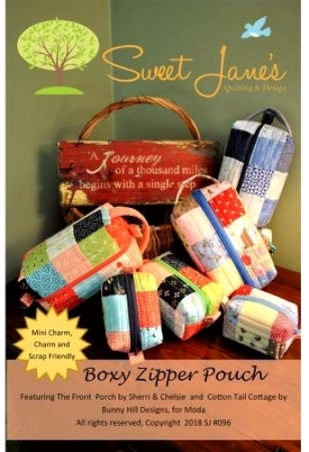 Boxy Zipper Pouch Pattern by Sweet Janes Quilting & Design 682698991534 - Quilt ...